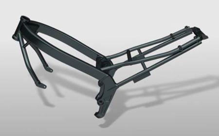 Chassi de dupla barra periferica tem placas de sustentação da balança em ferro fundido