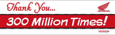 Obrigado 300 milhões de vezes!