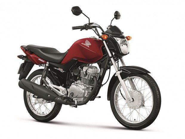 A nova Honda CG 150 Start na versão vermelha