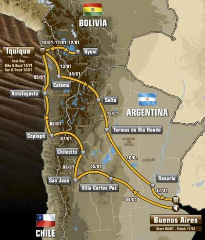Roteiro do Rally Dakar 2015