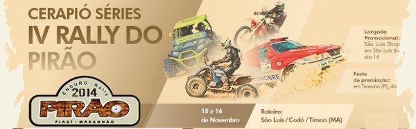 Rally do Pirão servirá como preparatório para o Piocerá 2015
