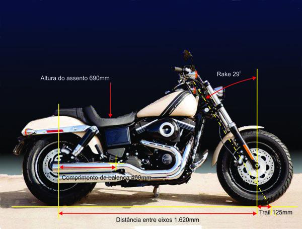 Classicas medidas resultam em comportamento neutro e estabilidade para retas, mas não duvide da capacidade de fazer curvas, essa Harley também tem