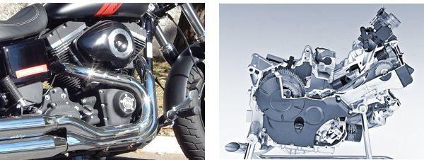 Os dois motores tem dois cilindros - As semelhanças terminam ai, o resto é tudo diferente