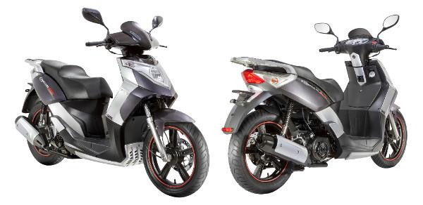 Desenho mistura o clássico dos scooters com um certo ar esportivo; rodas aro 16 polegadas com faixinhas vermelhas lhe dão ar sofisticado