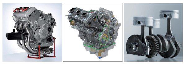 Motor mais estreito que os tradicionais quatro cilindros