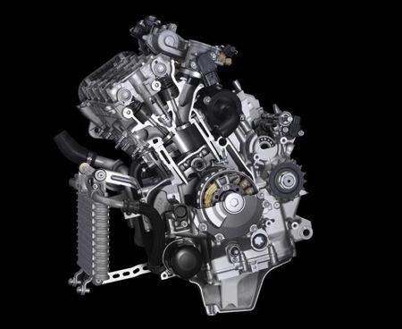 Novo motor crossplane recebeu várias modificações para diminuição do atrito interno
