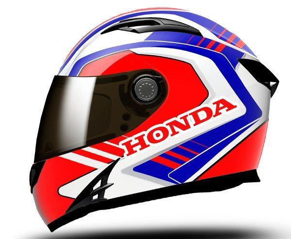 Capacete da linha Hypersport, com desenho exclusivo para a Honda