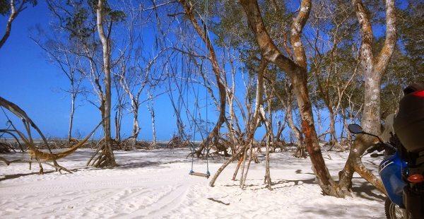 Cemitério do Mangue, um dos pontos turísticos na rota do Parque Nacional de Jericoacoara