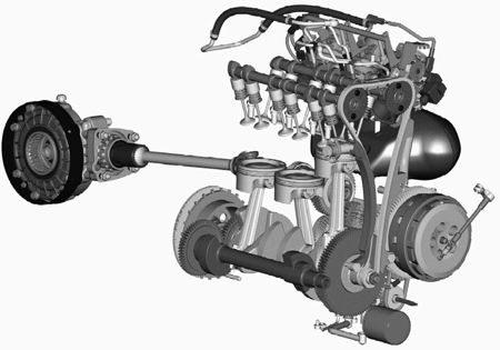 O maior motor de motocicleta atualmente em fabricação tem três cilindros, 12 válvulas e duplo comando no cabeçote