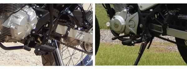Câmbio das duas são equivalentes, mas o da Yamaha é mais pesado, principalmente quando tem pouco uso