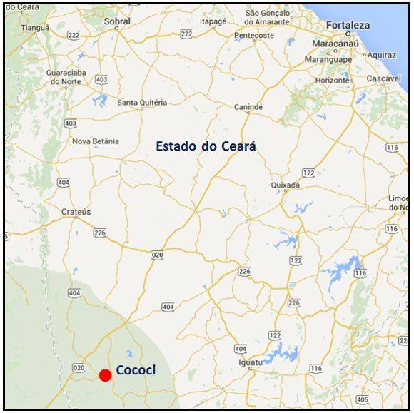 Localização de Cococi (CE)