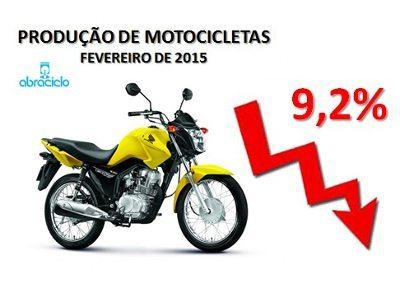 Produção de motos cai 9,2% em fevereiro de 2015