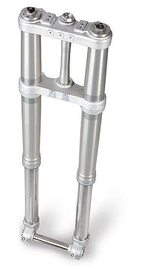 Garfo WP de 300 mm de curso tem as mesas especialmente fabricada para esse modelo, de Enduro