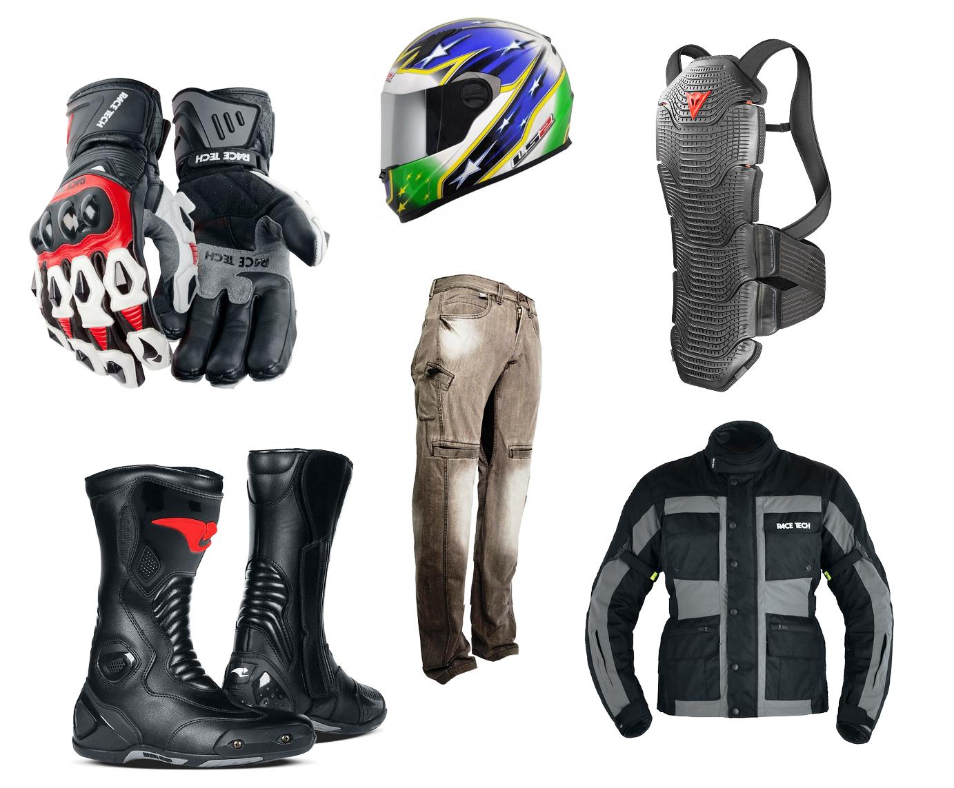 Luvas, capacete, protetor de coluna, botas, calça com proteções e jaqueta  7c40e78c88