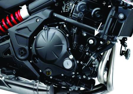 Nova fixação do motor, pela parte da frente acabou com as vibrações secundárias