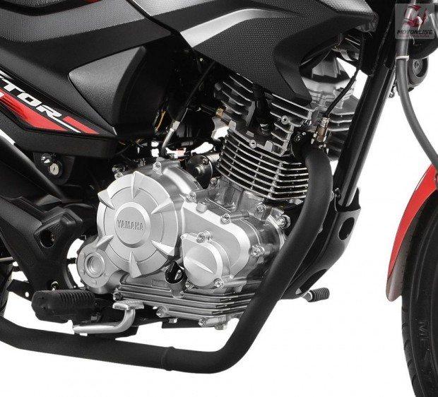 O motor, mesmo da Fazer 150 recebeu modificações para maior economia e robustez