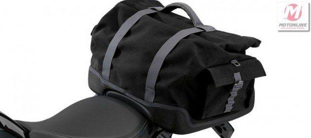 Bolsa traseira com sistema de fixação