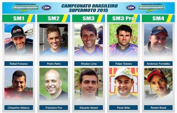 Principais classificados no Brasileiro de Supermoto 2015 - divulgação