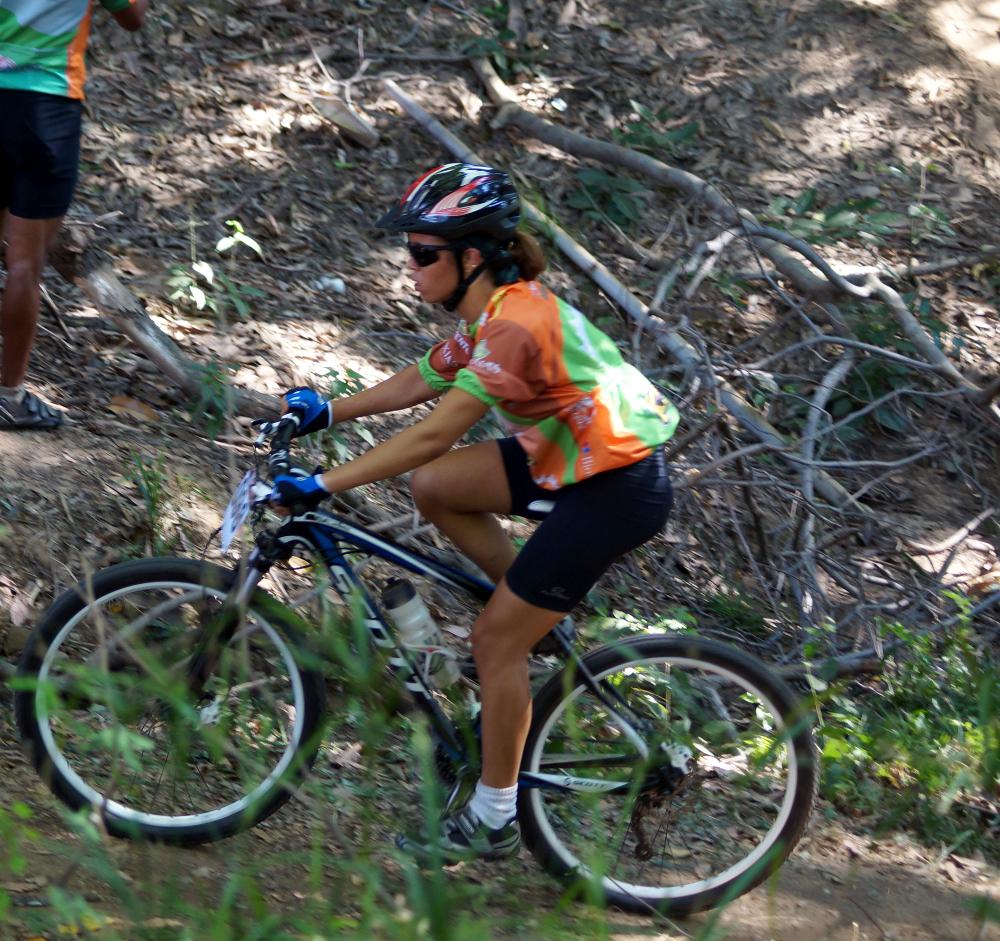 Vitória Alencar, mais jovem atleta do Camp. Piauiense de MTB - divulgação