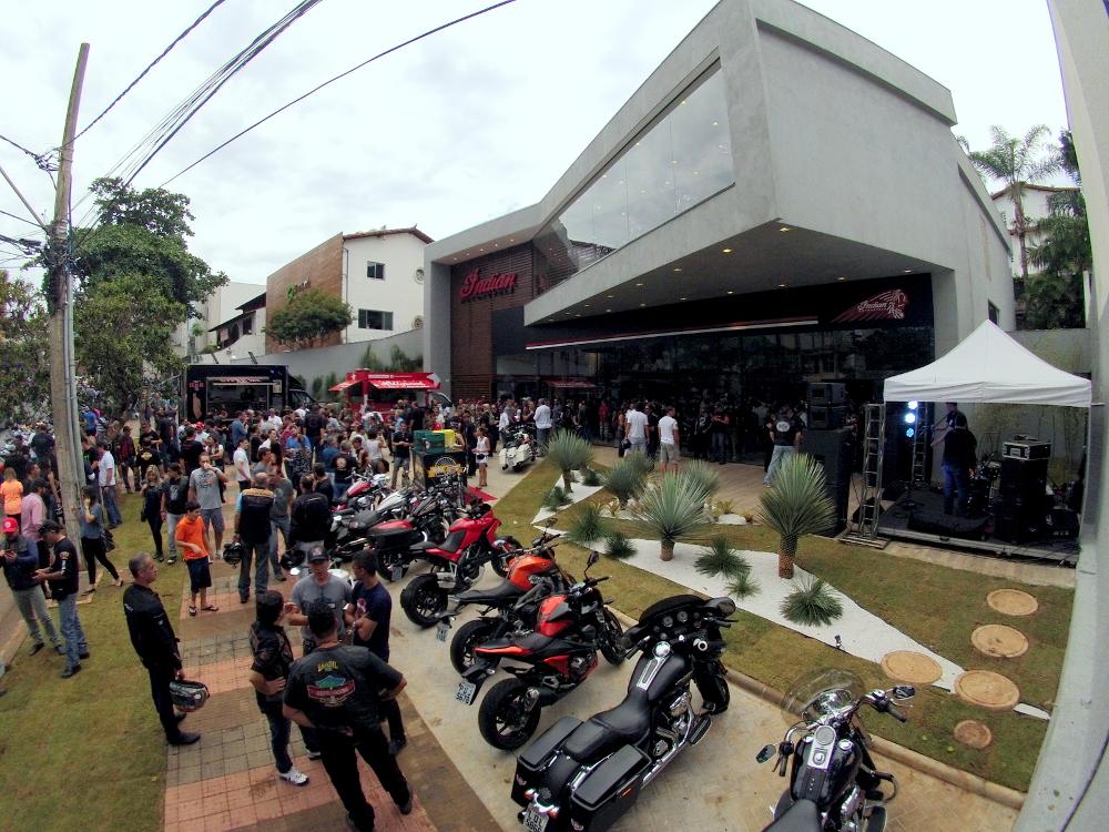 Inauguração da concessionária Indian em Belo Horizonte - foto: Léo Tavares