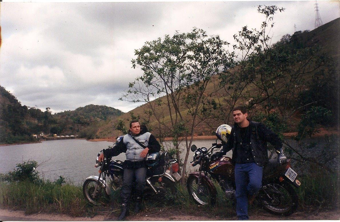 Eugênio Campos e seu amigo em uma das suas andanças por esse Brasil