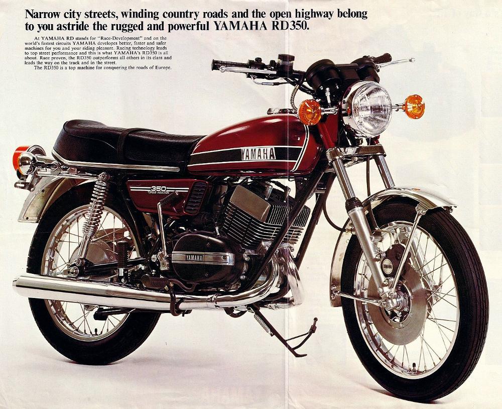 A RD 350 é a mais cobiçada dentre as Yamaha importadas - década de 1970