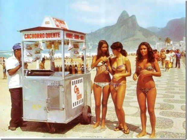 Meados de 1970, o início do uso de bikini nas praias cariocas