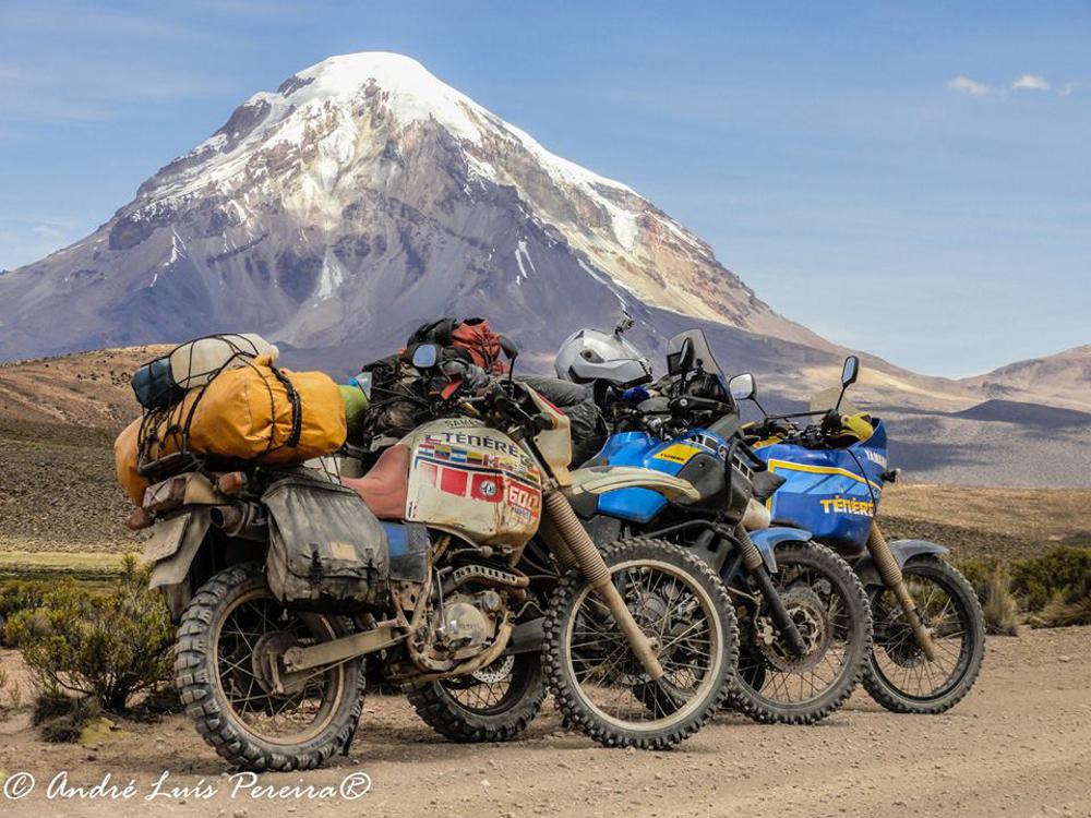 Três gerações de Yamaha Ténéré na mesma aventura