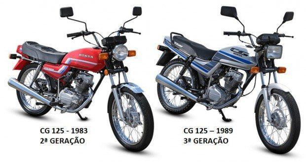 A Honda CG é fabricada desde 1976 e já está na sua 8ª geração