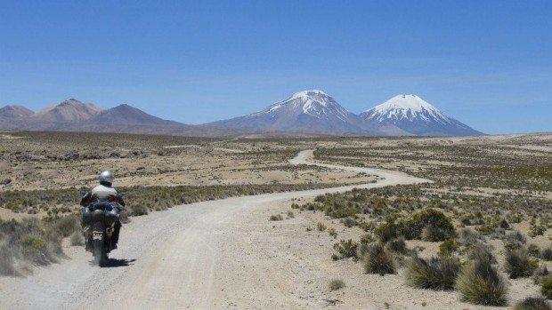 A todo momento a paisagem era adornada pela figura de um vulcão