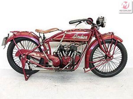 Indian Scout fabricada em 1920 com 600 cc