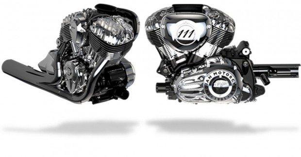 O motor parece uma obra de arte, com grande semelhança ao clássico Power Plus dos anos 40