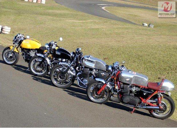 Test ride de cafe racers