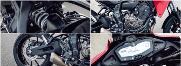 Detalhes da nova Tracer 700 seguem o padrão da marca: esmero