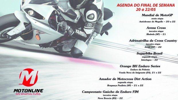 Confira, na Agenda Motonline, grandes eventos de motociclismo que acontecem nos próximos dias
