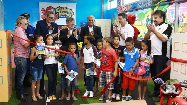 Inauguração da Cidade Mirim do Clubinho Honda em Recife - divulgação