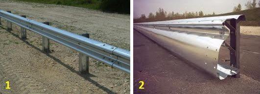 Na foto 1, o modelo atualmente em uso nas estradas italianas e na foto 2 o modelo proposto pela ONG