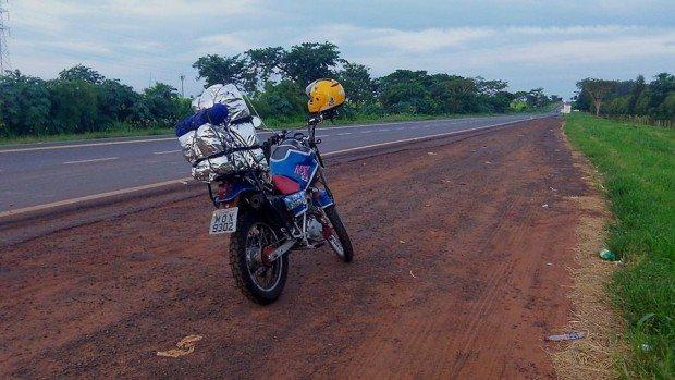 Testando a máquina na estrada, a caminho de Três Lagoas
