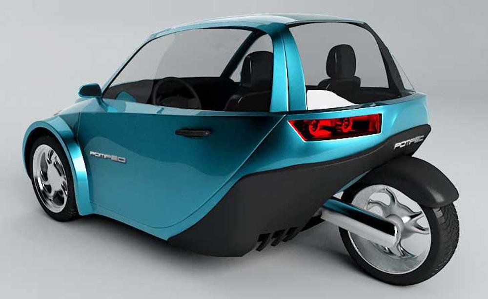 O Pompéu é um protótipo de triciclo que está sendo desenvolvido por estudantes de engenharia da UFPR