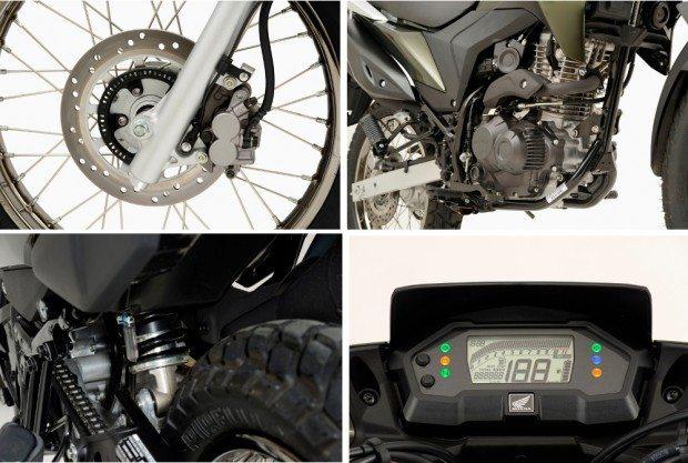 ABS na roda dianteira, motor de 16,4 cv, amortecedor traseiro sem links e novo painel digital bem completo; detalhes que jogam a favor da nova Honda XRE 190