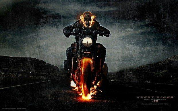Yamaha V Max no filme O motoqueiro fantasma