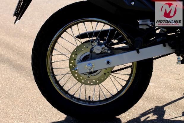 Freio a disco na roda traseira