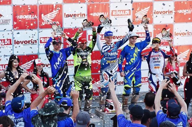 Fábio Santos venceu na MX2, garantindo dobradinha para a Yamaha no Brasileiro de Motocross Pró