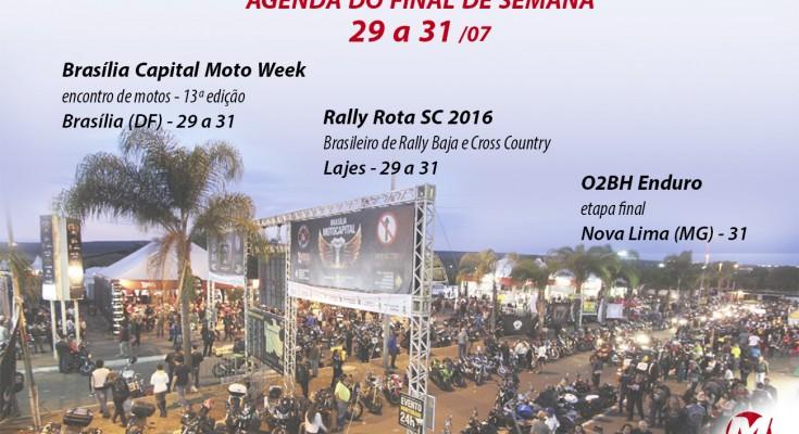 Confira a Agenda Motonline. Neste final de semana, destaque ao Capital Moto Week, em Brasília