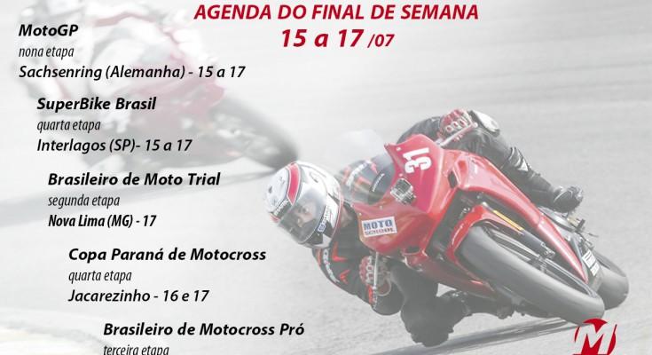 A Agenda Motonline traz as principais provas que agitarão o final de semana, incluindo MotoGP e SBK Brasil