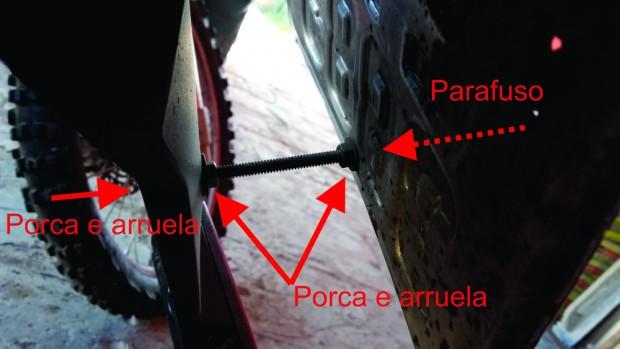 Placa com três parafusos - Perfil