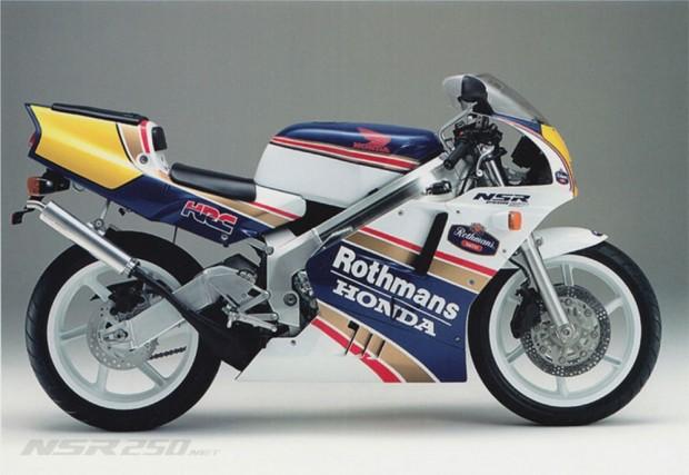 A Honda também se aventurou na fabricação de motos com motores dois tempos - essa é a NSR 250