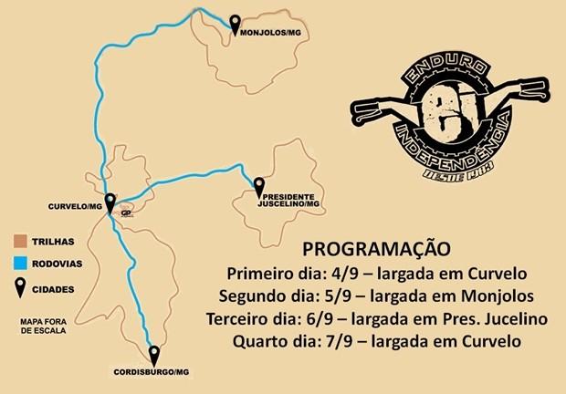 Enduro da Independência 2016 - Roteiro Geral