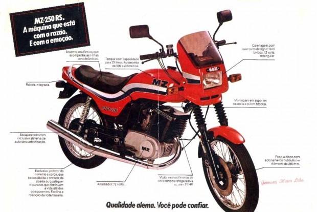 A MZ 250 RS começou a ser fabricada no Brasil em 1984, mas ficou apenas na promessa