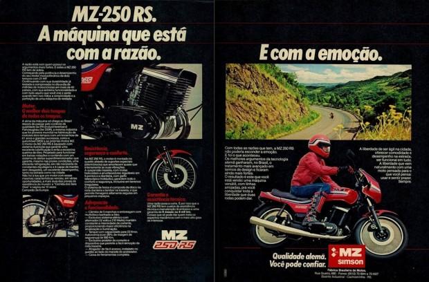 Propaganda da época da MZ 250 RS